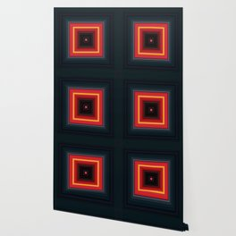 Bright Red Square Design Wallpaper