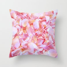 Pink flower petals - Beautiful floral rose roses backround Throw Pillow