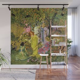 In the Magical Garden of Paradise by Dugald Stewart Walker Wall Mural