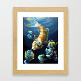 Easy Listening Streaker Fish Among the Sweater Fish Framed Art Print