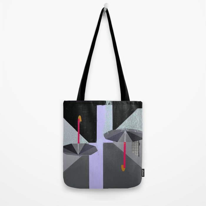 Umbrellas in the Rain Tote Bag