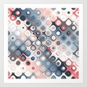 Abstract Pastel Shapes Pattern by perkinsdesigns