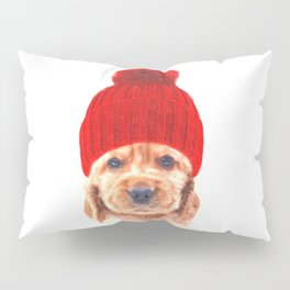 Cocker spaniel puppy with hat Pillow Sham