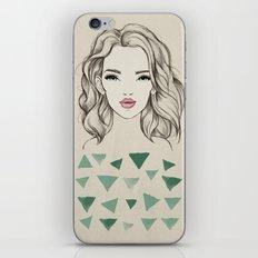 Green girl iPhone Skin