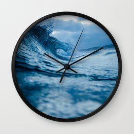 Blue Sea and Waves Wall Clock