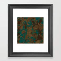 Peacock and Brown Framed Art Print