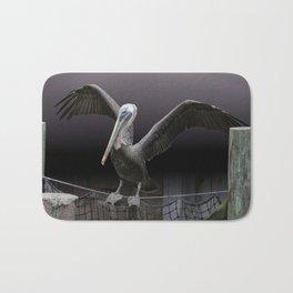 Balancing Act - Brown Pelican Bath Mat