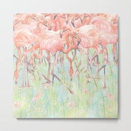 Flamingo Meadow Metal Print
