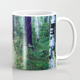 Sunny morning in the forest Coffee Mug