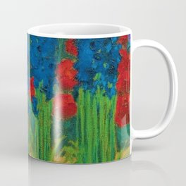 Sapphire-Blue Irises, Calla Lilies, Sunflowers, & Red Dahlia Parisian Garden by Emil Nolde Coffee Mug