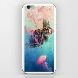 Sea Turtle and Jellyfish! iPhone Skin