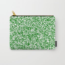 Tiny Spots - White and Green Carry-All Pouch