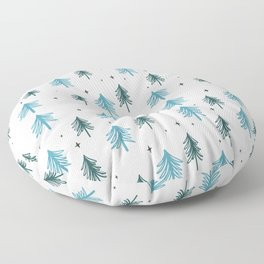 Minimal Christmas Tree Pattern Floor Pillow