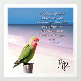"Posh Parrot - ""Space"" Art Print"