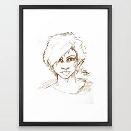 Kaji Brown Framed Art Print