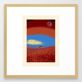Lone Wolf, Tomales Point, Inverness, United States 3 Framed Art Print
