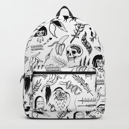 Death Lily Tattoo Flash Print Backpack