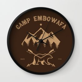 CAMP EMBOWAFA Wall Clock