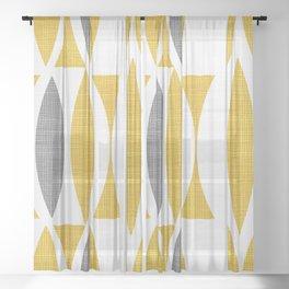 Seventies in Mustard Sheer Curtain
