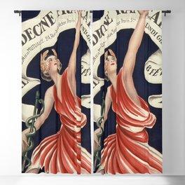Leonetto Cappiello Art - 6 bal de la Medecine francaise - Vintage French Medical Party - Lithograph Blackout Curtain