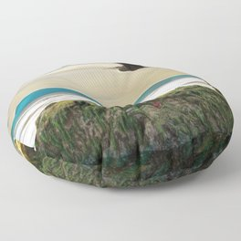 With No New Nest in Which to Settle. Floor Pillow