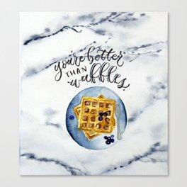 Waffle Love Canvas Print