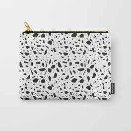 Terrazzo Black and White Seamless Pattern Carry-All Pouch