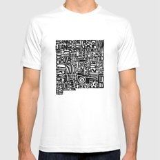 Typographic New Mexico MEDIUM White Mens Fitted Tee