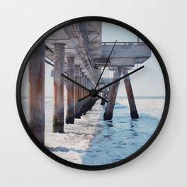 Under the pier Wall Clock