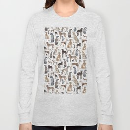 Greyhounds and Whippets Long Sleeve T-shirt