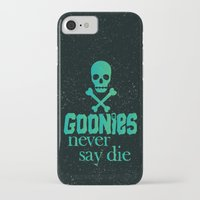 the goonies iPhone & iPod Cases featuring Goonies never say die by Rosaura Grant