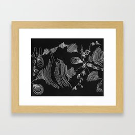 Oysters Inverse Framed Art Print