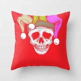 Mardi Grass Skull Carneval Shrove Tuesday Throw Pillow