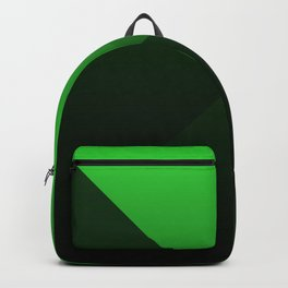 green triangle luminosity with darken and bright colors Backpack