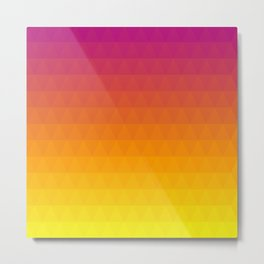 Pink and Yellow Ombre - Flipped Metal Print