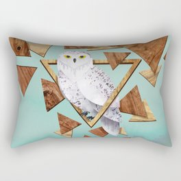 Owl in the Woods Rectangular Pillow