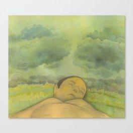 Last sleep while it rains Canvas Print