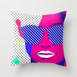 Pop Glasses Throw Pillow