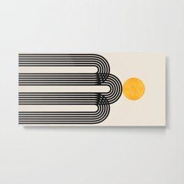 Abstraction_SUN_LINE_VISUAL_ART_Minimalism_02A Metal Print