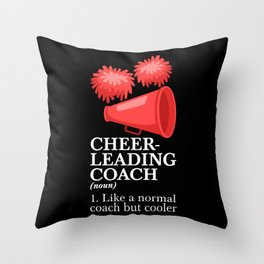 Cheer Coach Cheerleading Coach Trainer Gift Throw Pillow