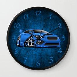 Import Sports Sedan Cartoon Illustration Wall Clock