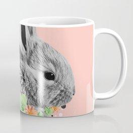 Floral Rabbit Coffee Mug