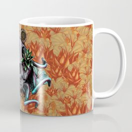 The Skull the Flowers and the Snail CoLoR Coffee Mug