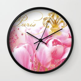 Wedding in Paris Wall Clock
