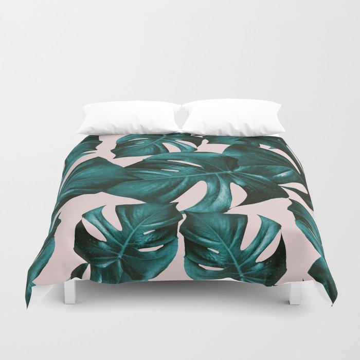 Monstera Leaves Pattern #4 #tropical #decor #art #society6 Duvet Cover