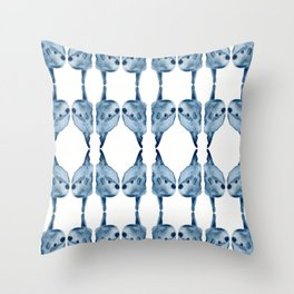Indigo Sunfish Throw Pillow