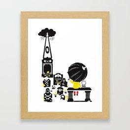 Howff ye bin? (or the meeting place) Framed Art Print