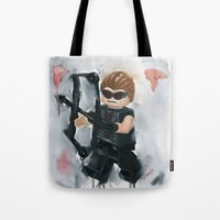 avenger Tote Bags featuring Avenger Lego by Toys 'R' Art