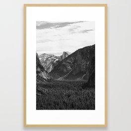 Yosemite Half Dome Veiw of Valley Framed Art Print