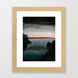 Night Swimmers Framed Art Print